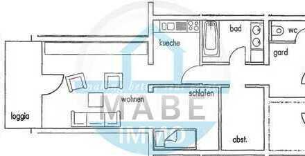 Im Zentrum gelegene 1 Raumwohnung mit Balkon