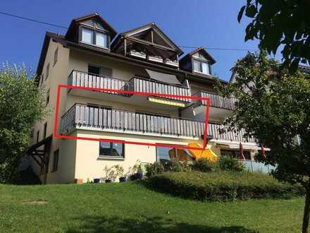 3 Zimmer Mietwohnung, absolut ruhige Südlage, in Meersburg, am Bodensee, ... mit Teilseesicht!