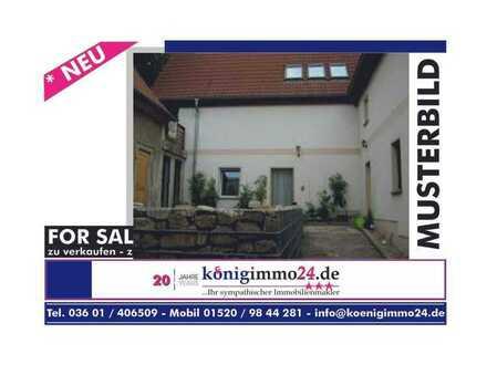 EFH mit Zufahrt, kl. Hof mit Terrasse und Garten in Bad Tennstedt