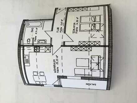 Vollständig renovierte 2-Zimmer-DG-Wohnung mit Balkon und Einbauküche in Memmingen