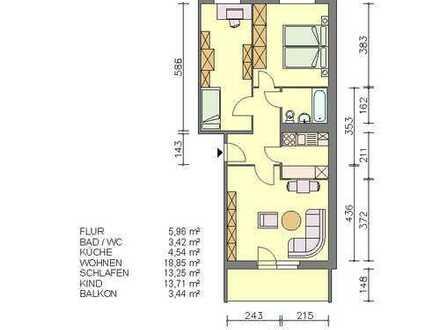 Drei-Raum-Wohnung in Waren (Müritz)