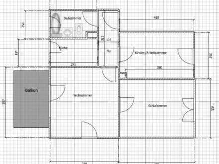 günstige 3 Zimmer Wohnung, gute Anbindung an Uni oder City mit Einbauküche