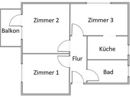 Gepflegte 3-Zimmer-Erdgeschosswohnung mit Balkon und Einbauküche in Erzingen