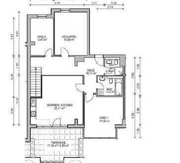 Erstbezug nach Sanierung! Moderne 4-Zi.-Wohnung mit Terrasse...