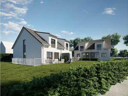 Neubau: Moderne DHH mit großem Südwest-Garten