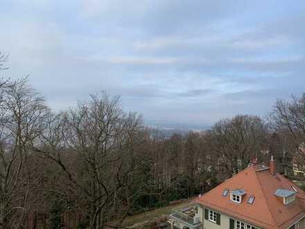 unverbaubarer Höhenblick - 4 Zimmer im Königspark Oberloschwitz