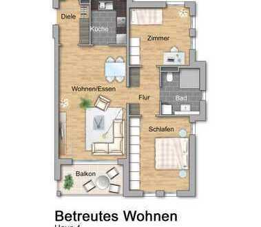 NEU Haus 4: Betreutes Wohnen: Dreizimmerwohnung im Dachgeschoss