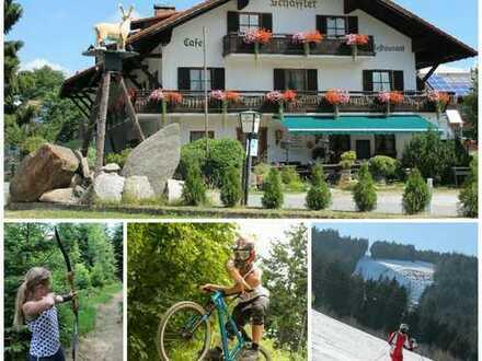 Hotelkomplex beim Bikepark und Skigebiet Geißkopf