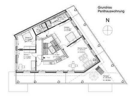 Exklusives Penthouse mit großer Dachterrasse und zwei Bädern in Berlin Buchholz
