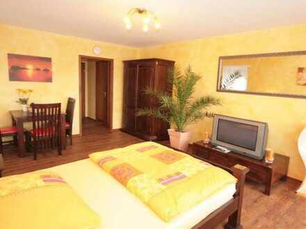 Hochwertige, voll möblierte 1-Zimmer-Wohnung mit Balkon in traumhaft ruhiger Lage