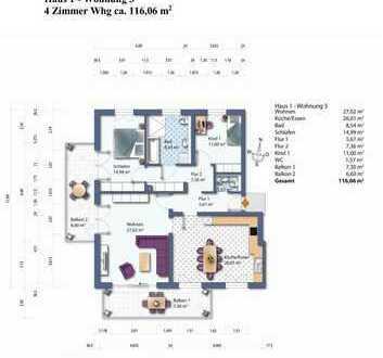 Haus 1 Whg. 3 Obergeschoss Wohnung