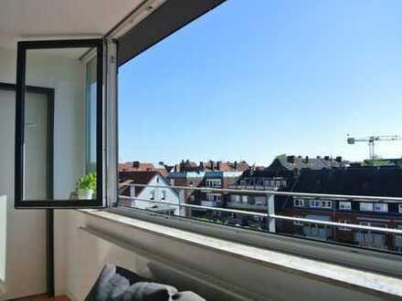 Single-Wohnung über Münsters Dächern