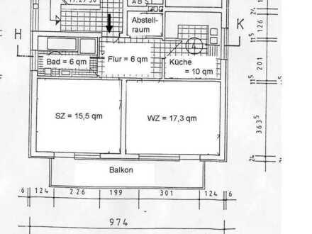 Gepflegte 2-Raum-Wohnung mit Balkon, Keller und Stellplatz in Leipzig. EBK bei Bedarf.