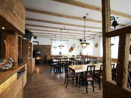 Top Gaststätte mit Biergarten, Weinstube und 5 Gästezimmer