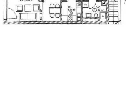 Neuwertige 1-Raum-Wohnung mit Einbauküche in Aichach