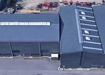 Stahlhalle 40x40x10,90m 1.600m² 2 x 20 t Kranbahn demontiert