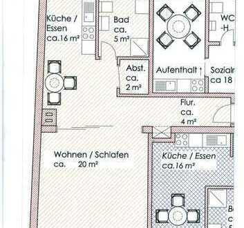 Einziehen und Wohlfühlen ! gemütliche 1-Zimmer- Wohnung im Zentrum von Pritzwalk zu mieten