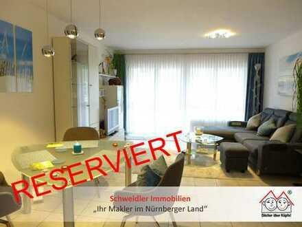 Top gepflegte 3-Zimmer-Eigentumswohnung mit Süd-Balkon in Lauf