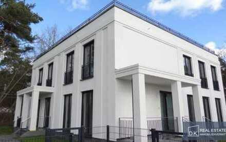 Villenhälfte mit 6 Zimmern auf 2 Etagen, mit Gartenanteil und PKW-Stellplatz