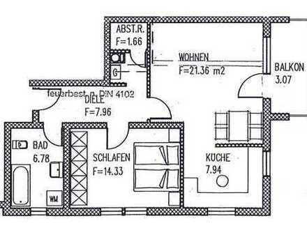 Vollständig renovierte 2-Zimmer-Wohnung mit Balkon in Kerzenheim