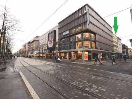 Gastronomieflächen in der Fußgängerzone von Mannheim