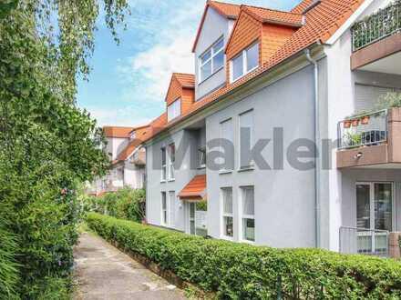 Sehr gepflegtes, helles Apartment mit Südbalkon und TG-Stellplatz nahe Heidelberg