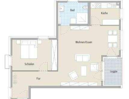 Großzügige 2-Zimmer-Wohnung mit 80 qm Wfl. im betreutem Wohnen