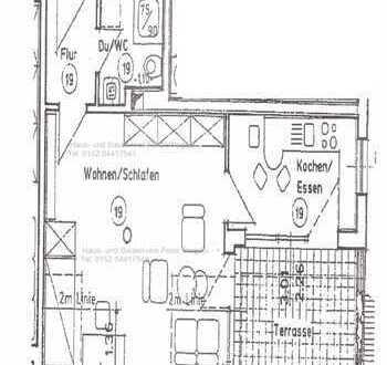 **tolle 1-Raum Wohnung mit Einbauküche, Dachterrasse und Stellplatz in Oberhohndorf**