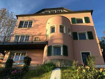 Villenartiges Einfamilienhaus im mediterranen Stil*Elbtalblick*parkähnlicher Garten*große Terrasse