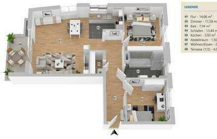 Moderne, großzügige 3-Zimmer Neubauwohnung in zentraler Lage