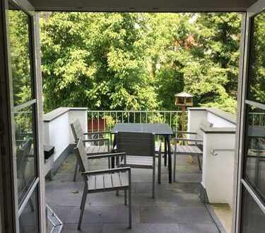 elegante Villen-Wohnung, 5 Zimmer, Terrasse, Stellplatz, Gartenteil