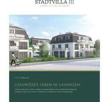 Schöne gutgeschnittene 3 Zimmerwohnung in einer luxuriösen Stadtvilla mit Dachterrasse