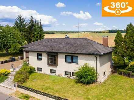 In Feldrandlage: Freistehendes Einfamilienfertighaus mit großem Grundst. (1467 m²) in Aulendiebach