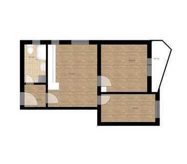sanierte 2,5-Zimmer-Wohnung mit Balkon und EBK in Ingolstadt