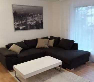 Modern möblierte 2-Zimmer-EG-Wohnung mit Terrasse, EBK und Tiefgarage in Neckarsulm-Amorbach
