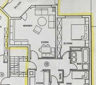Sonnige, ruhige und gepflegte 3,5-Zimmer-Wohnung mit Balkon und Einbauküche in Stuttgart-Vaihingen
