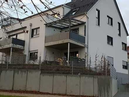 Neue (BJ 2018) 4-Zimmer-EG-Wohnung, Einbauküche Terrasse mit eigenen Garten in Schnaittach
