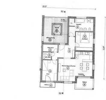 Erstbezug: schöne 3-Zimmer-Wohnung mit EBK und Balkon in Rot am See