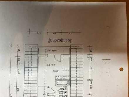 Neu renoviertes App., mit 4,2 m² überdachte Loggia - DG-Wohnung, mit Balkon und EBK in Münster