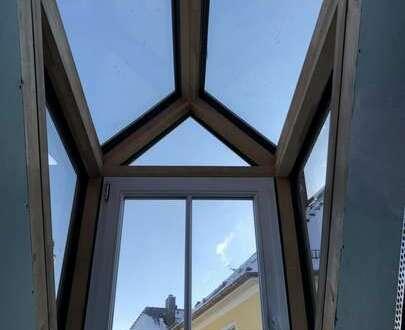 Möbliertes Appartement, Erstbezug nach Kernsanierung, Dachgeschoss, Glasgauben, Gartennutzung