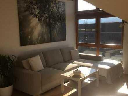 Gepflegte 3-Zimmer-Dachgeschosswohnung mit Balkon und Einbauküche in Mögglingen
