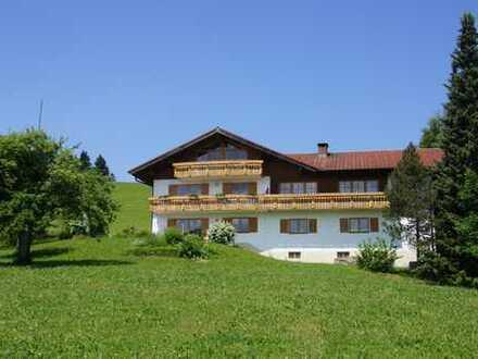 Dauerferienwohnung mit Panoramaausblicken in Rettenberg im Oberallgäu zu vermieten