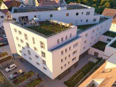 Möbliertes City-Apartment mit großem Wohnbereich und Barrierefreiheit im Zentrum von Echterdingen