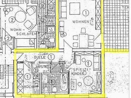 Schöne 2-Zimmerwohnung mit XXL-Terrasse im Erdgeschoss
