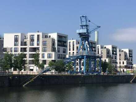 MARINAGARDENS am Offenbacher Hafen: Moderne 2-Zimmer-Neubauwohnung direkt am Blauen Kran