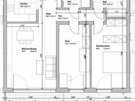 Exklusive 3-Zimmer-EG-Wohnung mit Terrasse auf der Südhöhe! Fertigstellung Oktober 2019!