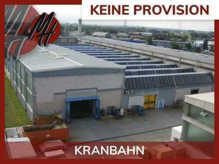 PROVISIONSFREI! 25 TO KRANBAHN! Lager-/Produktionsflächen (2.700 qm) zu vermieten