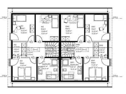 Erstbezug mit EBK: attraktive Doppelhaushälfte mit vier Zimmern in Bopfingen, Bopfingen