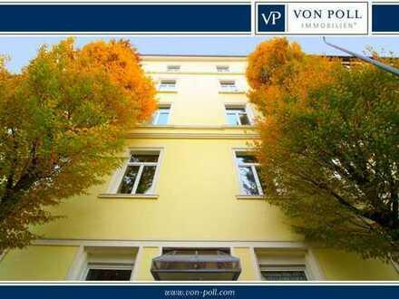 Drei-Zimmer-Altbauwohnung mit Balkon in der Nähe des Bethmannparks