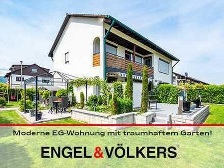 Moderne EG-Wohnung mit traumhaftem Garten!